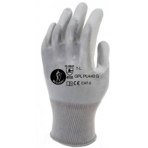 Guantes de poliuretano gris