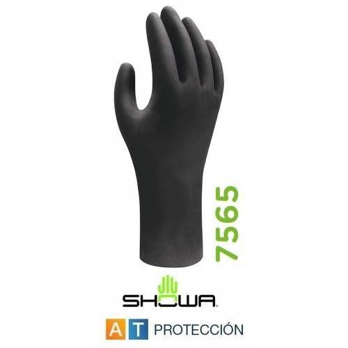 Caja 50 guantes nitrilo Showa 7565 antiestático 30 cms.