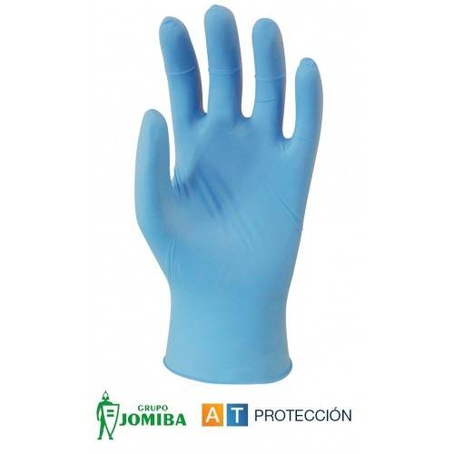 Caja 100 guantes desechables nitrilo empolvados ECO