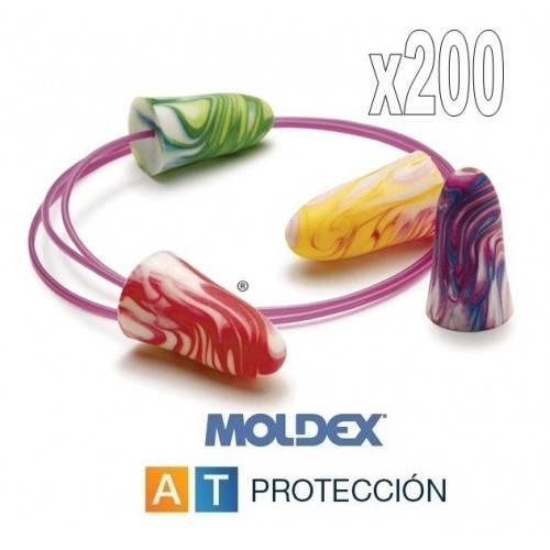 Pack 200 pares MOLDEX Spark Plugs con cordón