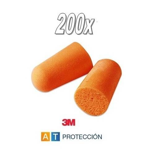 Pack 200 pares tapones 3M 1100