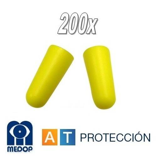 Pack 200 pares tapones auditivos economicos