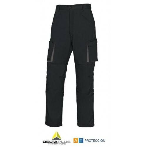 Pantalón DeltaPlus M2PAN Negro-Gris