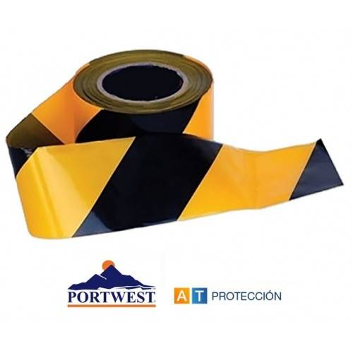 Rollo cinta baliza Negra-Amarilla 500 m.