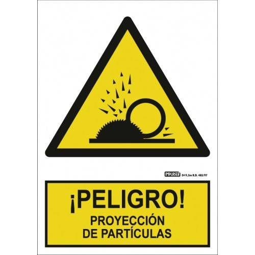 PELIGRO PROYECCIÓN DE PARTÍCULAS A4 Y A3
