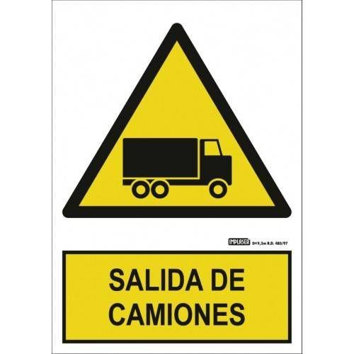 Señal SALIDA DE CAMIONES A4 Y A3