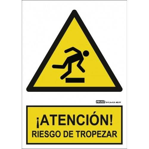 Señal ¡ATENCIÓN! RIESGO DE TROPEZAR A4 y A3