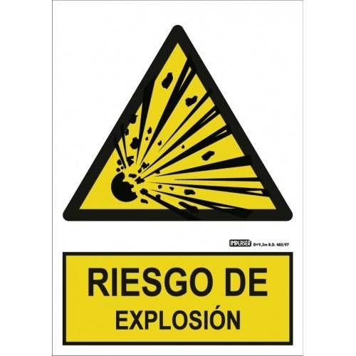 Señal RIESGO DE EXPLOSIÓN A4 Y A3