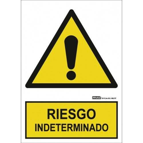 Señal RIESGO INDETERMINADO A4 Y A3