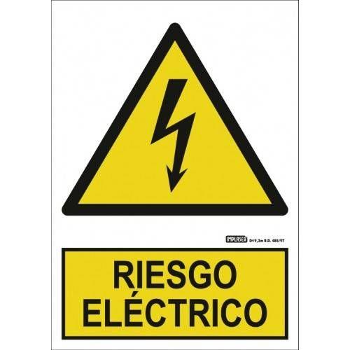 Señal RIESGO ELÉCTRICO A4 Y A3