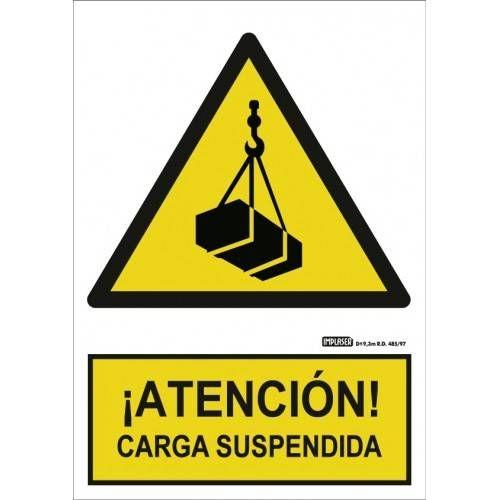 Señal ¡ ATENCIÓN ! CARGA SUSPENDIDA A4 Y A3