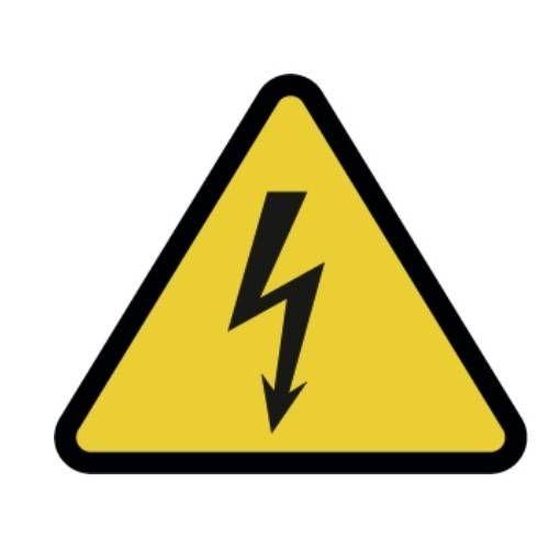 Señal riesgo eléctrico adhesivo 9 CM