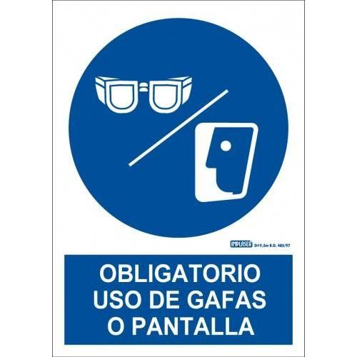 ES OBLIGATORIO EL USO DE GAFAS O PANTALLA A4 Y A3