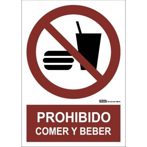PROHIBIDO COMER Y BEBER A4 Y A3
