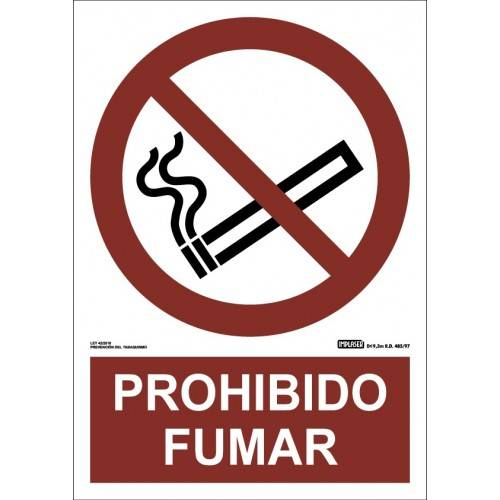 PROHIBIDO FUMAR A4 Y A3