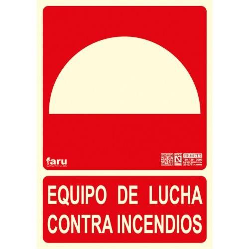 SEÑAL EQUIPO DE LUCHA CONTRA INCENDIOS A4