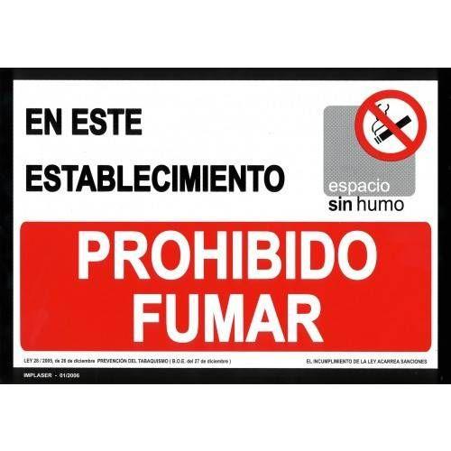 PROHIBIDO FUMAR A4