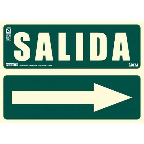 SEÑAL SALIDA FLECHA DERECHA A4 Y A3