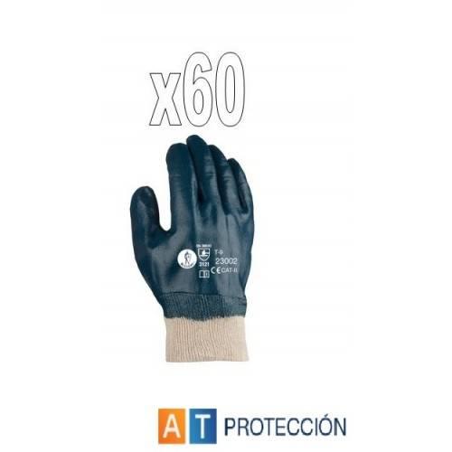 Pack 60 par guantes nitrilo cubierto 23002