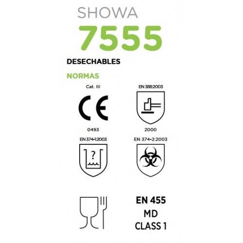 Caja 50 guantes nitrilo Showa 7555