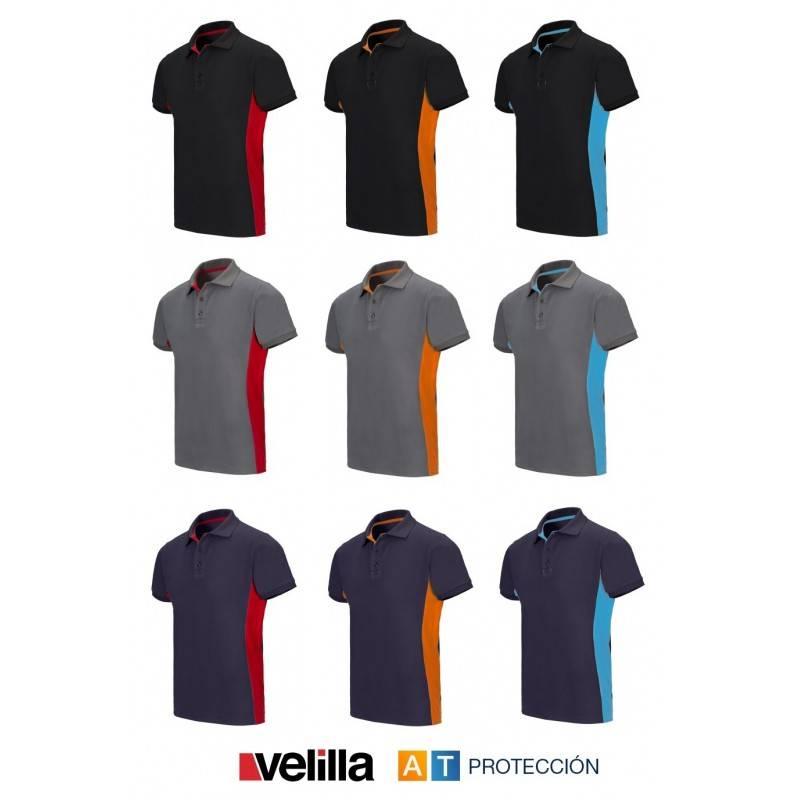 Polo técnico bicolor VELILLA 105504 b8e2f65815142