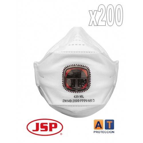 PACK 200 MASCARILLAS FFP3 JSP SPRINGFIT 435ML