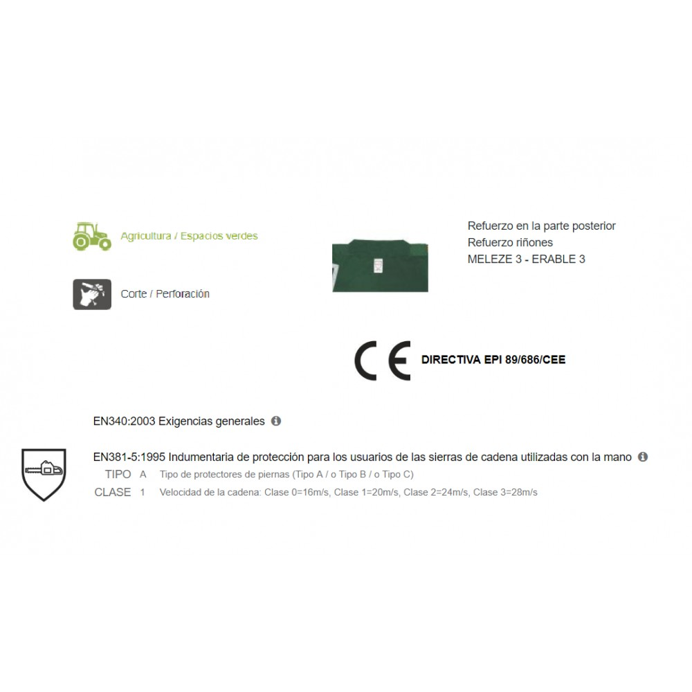 6fc039d7eef Peto leñador anticorte ERABLE III