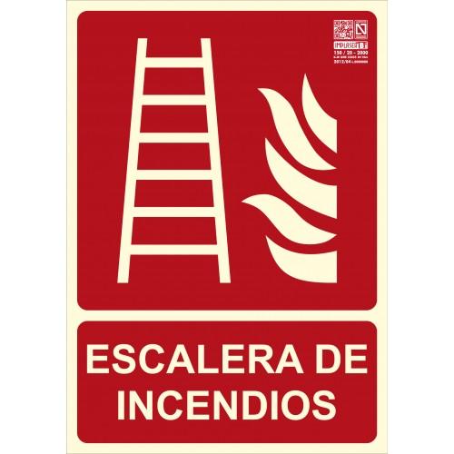SEÑAL ESCALERA DE INCENDIOS A4