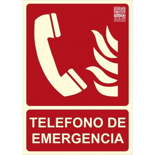 SEÑAL TELÉFONO DE EMERGÉNCIA A4
