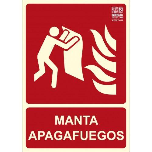 SEÑAL MANTA APAGAFUEGOS A4