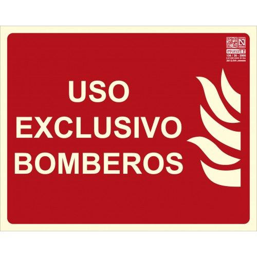 SEÑAL USO EXCLUSIVO BOMBEROS A4