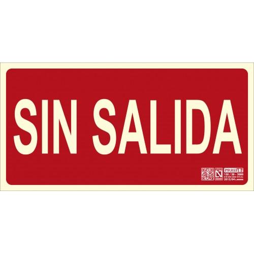 SEÑAL SIN SALIDA 15X30 MM