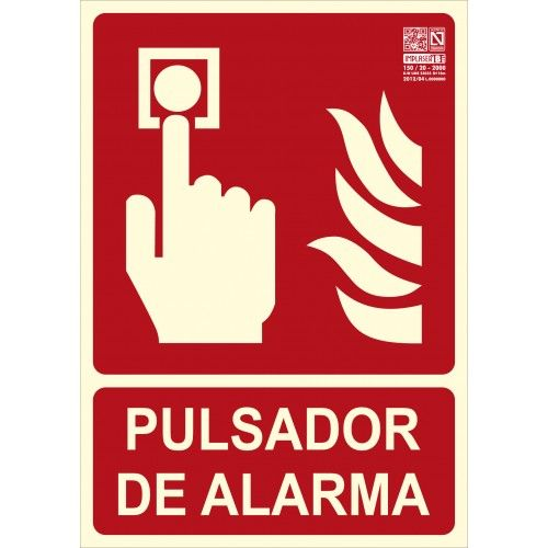 SEÑAL PULSADOR DE ALARMA A4 Y A3