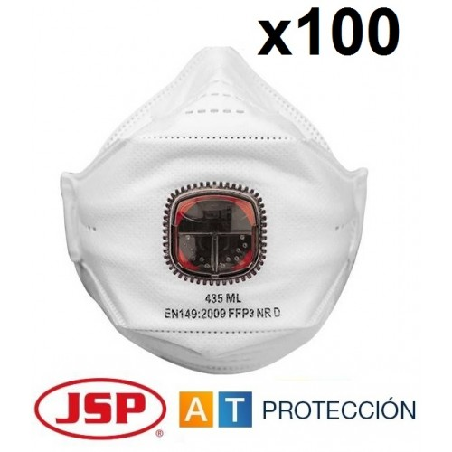 PACK 100 MASCARILLAS FFP3 JSP SPRINGFIT 435ML