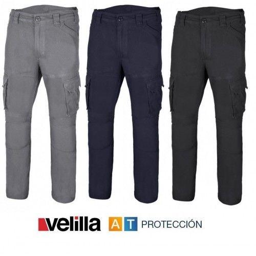 Pantalón de trabajo Multibolsillos algodón Stretch Velilla