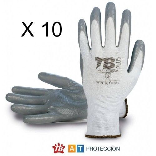 Pack 10 pares guantes nitrilo 700GPTOUCH