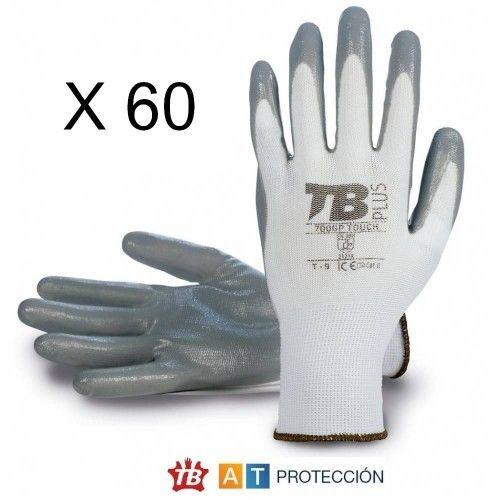 Pack 60 pares guantes nitrilo 700GPTOUCH
