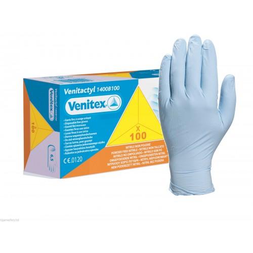 Caja 100 guantes nitrilo desechable Deltaplus Venitactyl OUTLET