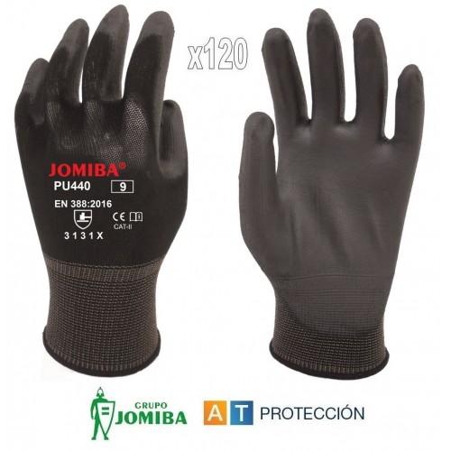Pack 120 pares guantes de poliuretano negros