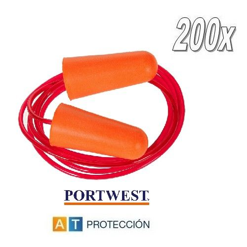 Pack 200 pares tapones Portwest EP02