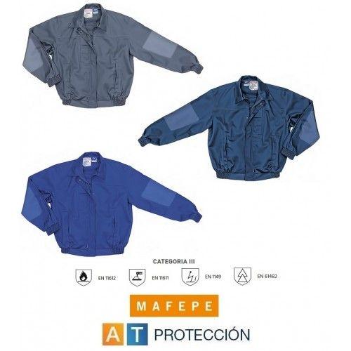 CAZADORA IGNIFUGA - ANTIESTATICA - CONTRA ARCO ELECTRICO 100% algodón