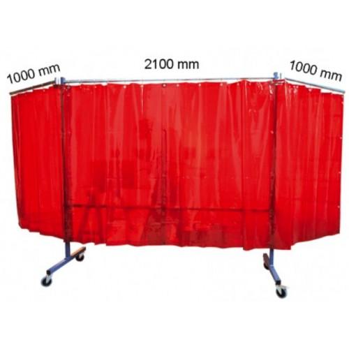 Biombo protección con brazos/cortinas TRANSFLEX 2100