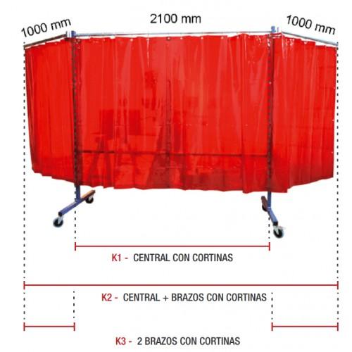 Protcción brazos con cortinas TRANSFLEX 2100