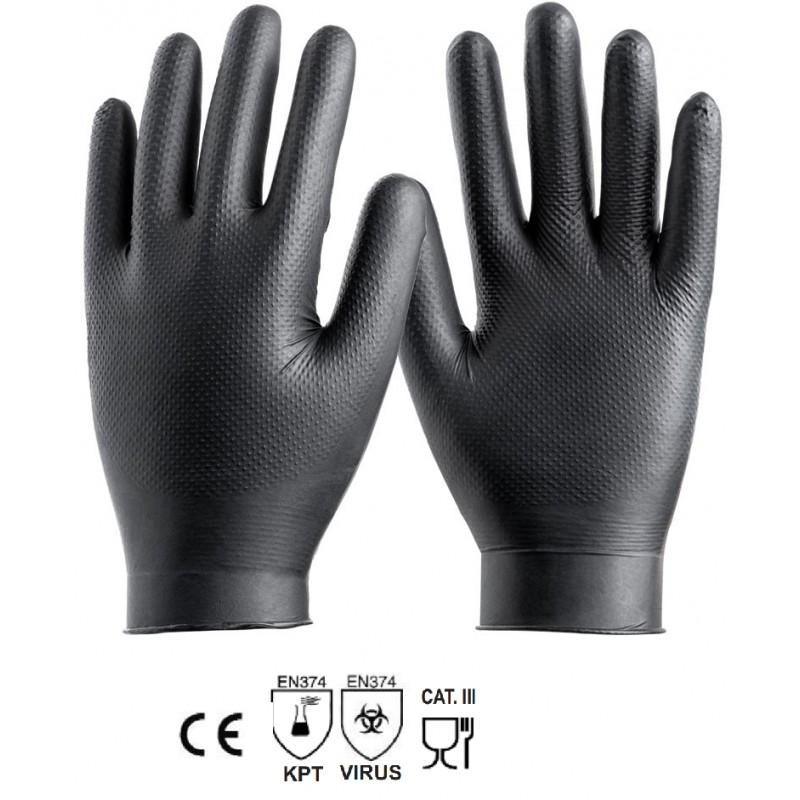 Guantes de nitrilo negro Safetop 049N 100 unid.