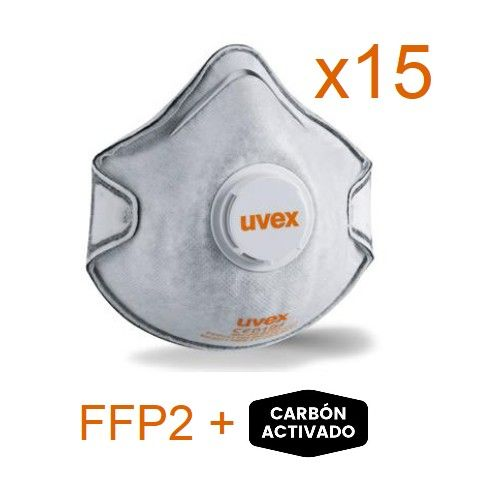 Pack 15 Mascarillas Antivirus FFP2- UVEX