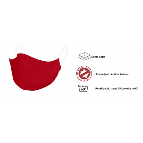 Mascarilla para niños de tela - Reutilizable Red