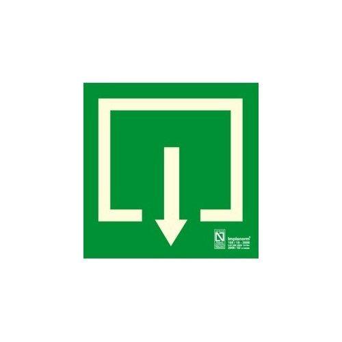 Señal flecha situación 22.4 x 22.4 cm.