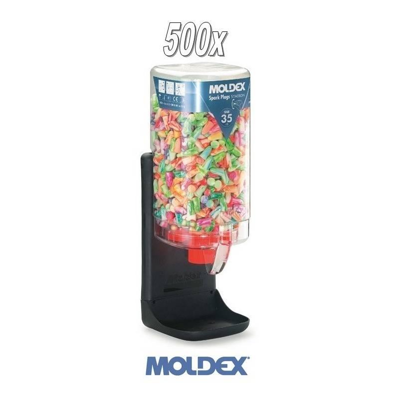 0c1a189e520 Dispensador + 500 pares tapones Moldex Spark Plugs