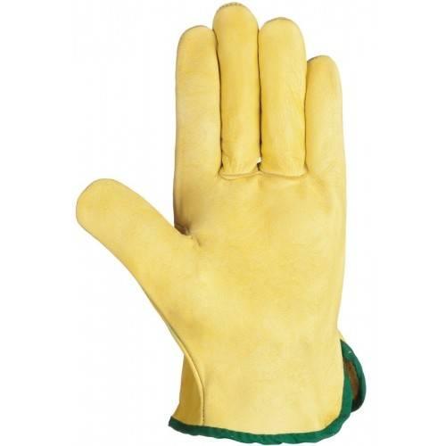 Guantes piel flor amarillos 335R Talla 8
