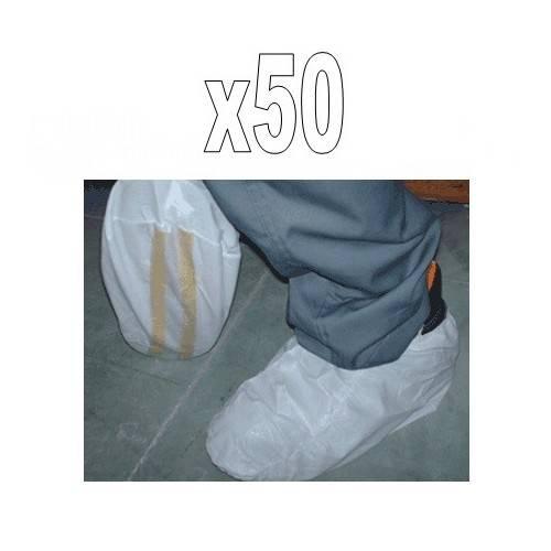Pack 50 cubrezapatos antideslizantes desechables